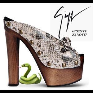 giuseppe zanotti • NEW • python platform heels